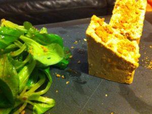 En entrée, foie gras de canard et spéculoos