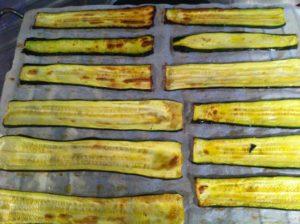 Makis de saumon aubergine / courgette