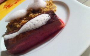 Magret de canard, quinoasotto à l'orientale et écume de citronnelle