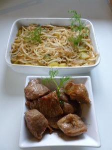 Fenouil caramélisé et poulet au sésame façon Grégory