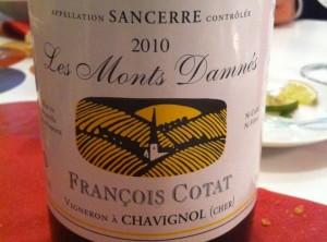 François Cotat 2010 et quelques bonus au restaurant l'Episode à Montpellier