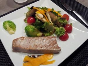Tarte sablée au parmesan et légumes de saison par Nicolas
