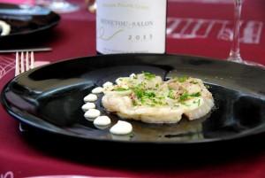 Carpaccio de bar, Celeri-rave et Yuzu – Le Savoir-Boire