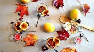 Minis crèmes brûlées à la pomme Tentation et au Bleu d'Auvergne