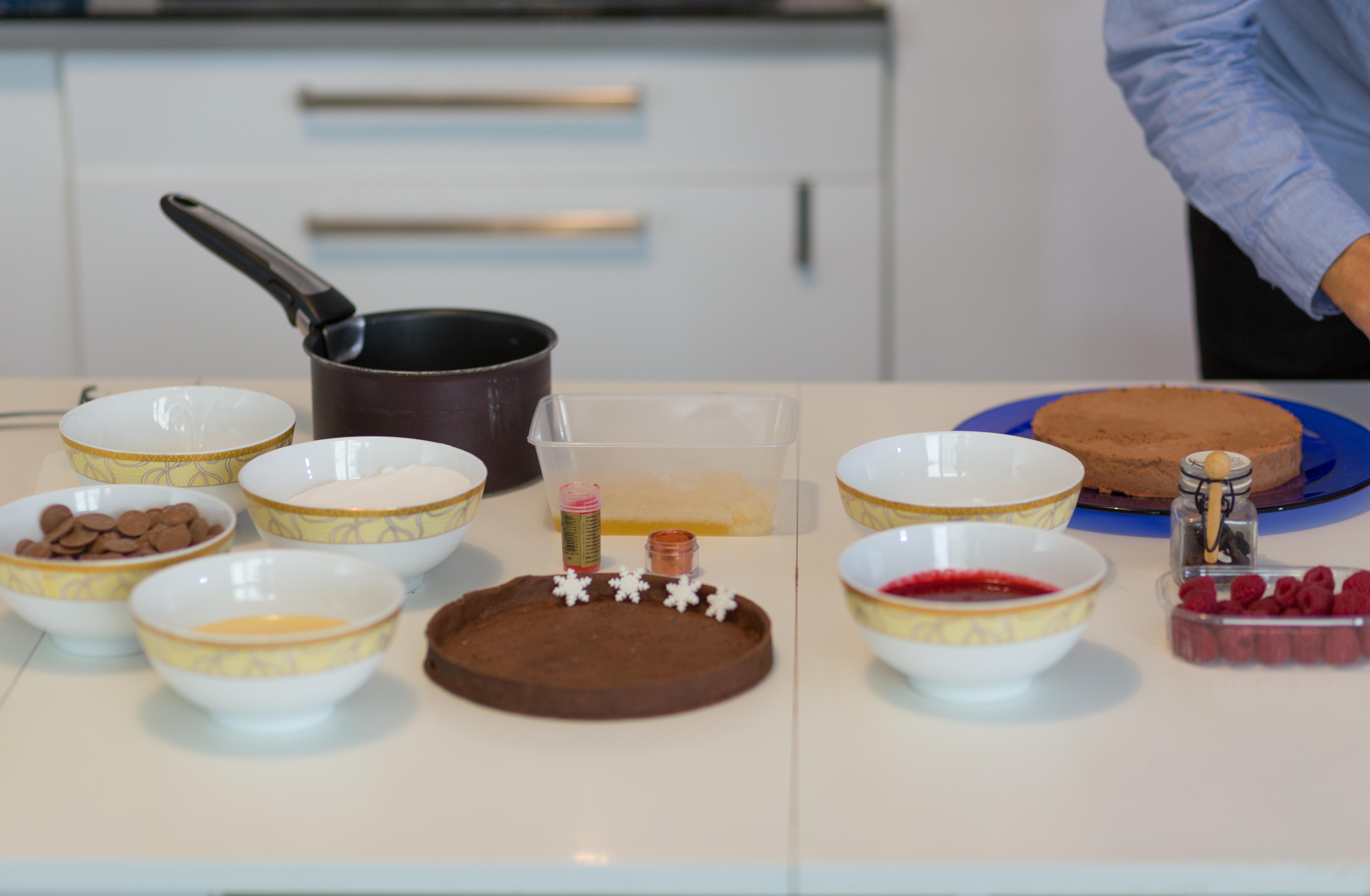 Sug Art Cake Design Montpellier : La tarte miroir chocolat et framboise par Sug art, Cake ...